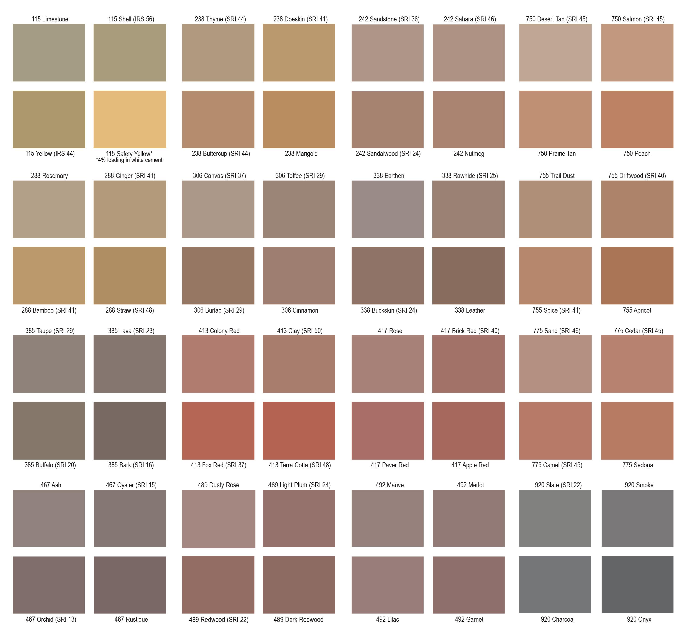 ColorFlo Liquid & Granular Colors Color Card-2